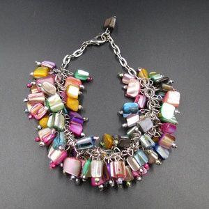 Vintage 8 Inch Colorful Shell Bracelet